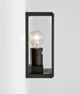 Contemporary Exterior Wall Lantern In Two Sizes