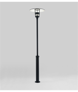 Low Glare Modern Lamp Post in Black