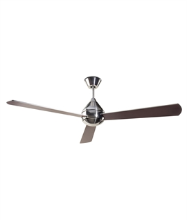 Modern Ceiling Fan with 3 Blades - Two Finishes