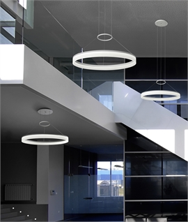 Circular Ring LED Pendant - Remote Controlled Optional