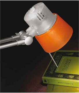 Modern Reading Light with Colourful Shade - Purple or Orange