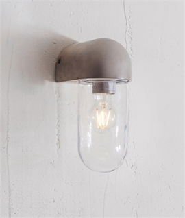 Outdoor Concrete & Glass IP44 Wall Light