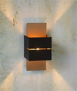 Modern Cube Wall Light with Cut Out Detailing