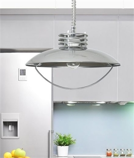 Modern Rise and Fall Metal Pendant - Three Finishes