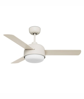 Modern Triple Bladed Ceiling Fan with Built-in Opal Light