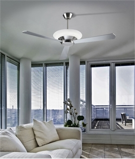 Ceiling Fan Offering Upwards Light - Matt Grey
