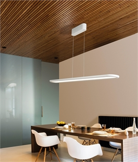 Matt White Suspended LED Ceiling Light