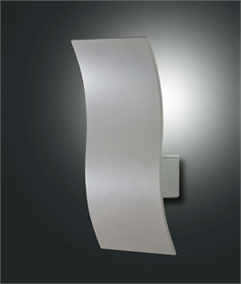 Curved Metal Wall Light with LEDs