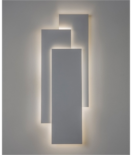 Modern Wall Light with Back-Lit Overlapped Panels