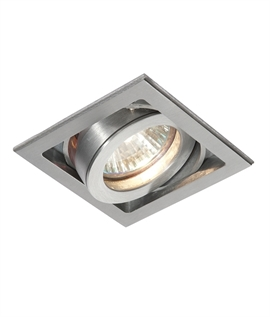 Brushed Aluminium Downlight Single, Dual or Triple