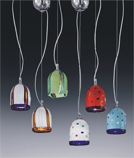 Murano Glass Multi-Coloured Hanging Pendant
