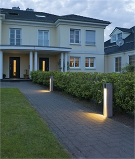 Natural Basalt Rock LED Pathway Bollard