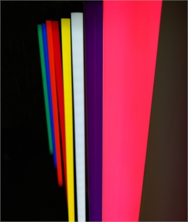 Slim Neon Tube Floor Lamp in Eight Colours H:1370mm