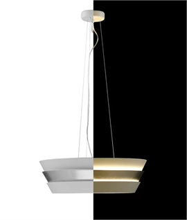 Big and Bold Modern Light Pendants - Two Designs - Gold or Silver Leaf