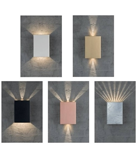Up & Down LED Wallwasher with Gobo Filters