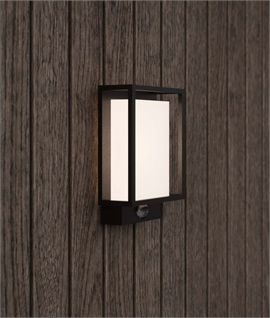 Modern Box Exterior Wall Light - PIR Option