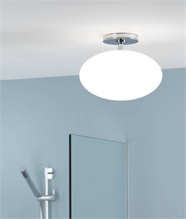 Bathroom Opal Drop Pendant H 235mm