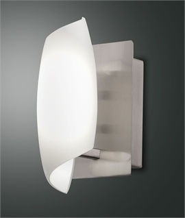 Curled Opal Glass & Satin Nickel LED Wall Light