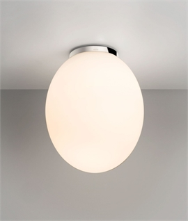 Egg Shaped Opal Ceiling Light - IP44