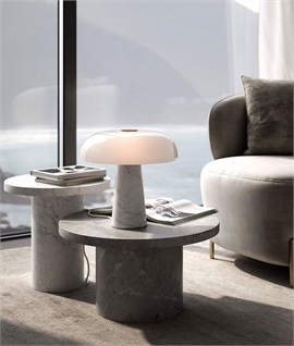 Marble Base & Opal Glass Designer Table Lamp
