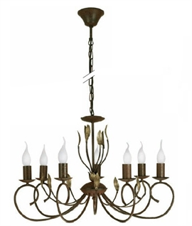 Ruby - Ornate 7 Light Chandelier