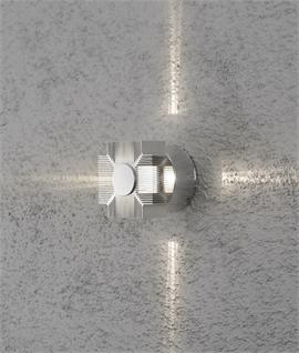 Exterior Aluminium Wall Light with Star Beam