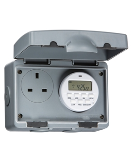Outdoor Plug Socket with Timer