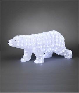 Outdoor LED Small Walking Polar Bear