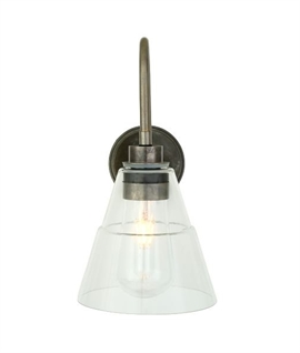 Outdoor IP54 Wall Mounted Lantern & Glass Shade