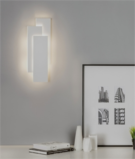 Three Panel Overlap LED Wall Light with Halo Effect