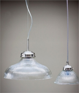 La Parisienne - Ribbed Glass Light Pendants in 3 Sizes