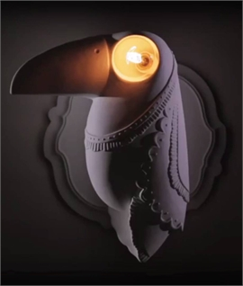 White Ceramic Pelican Wall Light