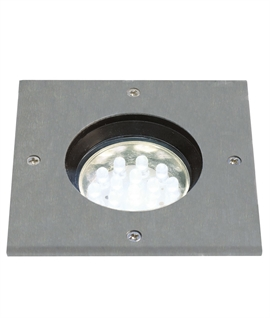 Petite LED Stainless Steel Square Buried Uplighter