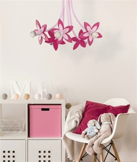 Brightly Coloured Flower Light for Ceiling or Wall