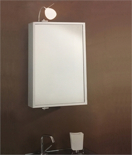 Pivoting Aluminium Bathroom Mirror Cabinet