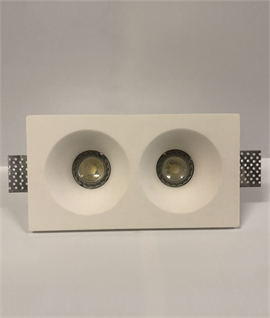 Trimless Plaster-in Downlight - Twin Lamp Round