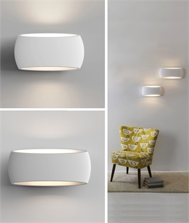 Oval Plaster Wall Light Up and Down Wall Wash Lighting
