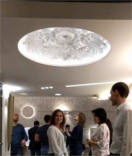 Sculptured Plaster Ceiling Domes - Edge Lit