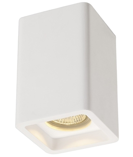 GU10 White Plaster Surface Mounted Downlight