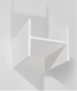 Plaster Wall Light with I-Beam Design