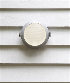 Modern Porthole Style Wall Light - IP65 Rated