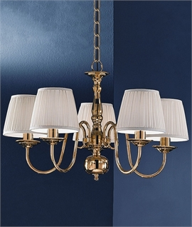 Polished Brass Flemish Chandelier - Two Size Options