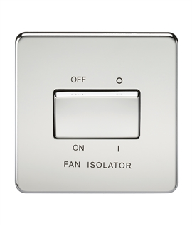 Screwless Bathroom Fan Isolator Switch