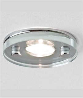 Compact IP65 Recessed Round Glass LED