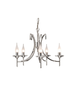 Polished Nickel Bamboo Chandeliers