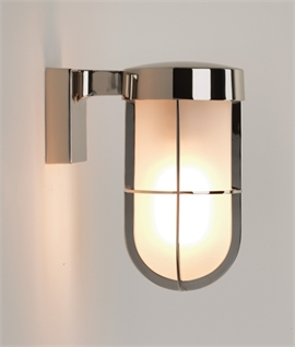 Cabin Style IP44 Frosted Glass Wall Light