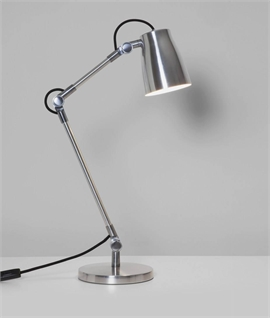 Metal Contemporary Adjustable Reading Lamp