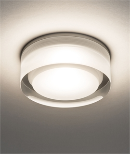 Hockey Puck Style LED Downlight - diffused Light for bathrooms