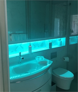 Bathroom IP44 RGB LED Tape Kit - 5000mm Length