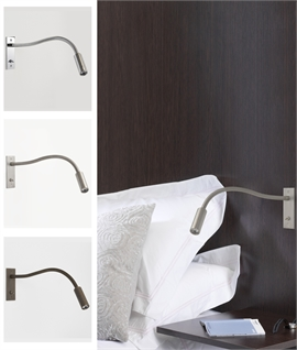 Recessed Flex Arm LED Bedside Reading Light